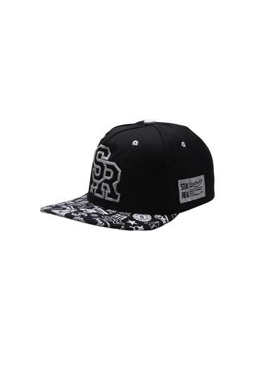 Laslusa SR Hip Hop Snapback Şapka Siyah